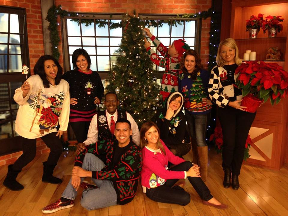 Awesome Family Around Christmas Tree Part - 14: ... Family Photo Around The Good Day Sacramento Christmas Tree. Ugly  Sweater 2