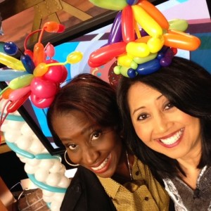 Courtney and Tina Balloon hats