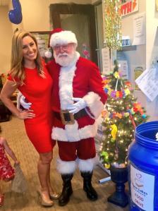 Alexis with Santa 1