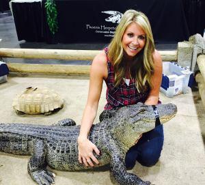 kristin with gator