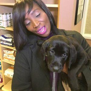 courtney with Dog `