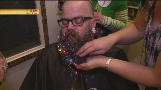 Glitter beard 1