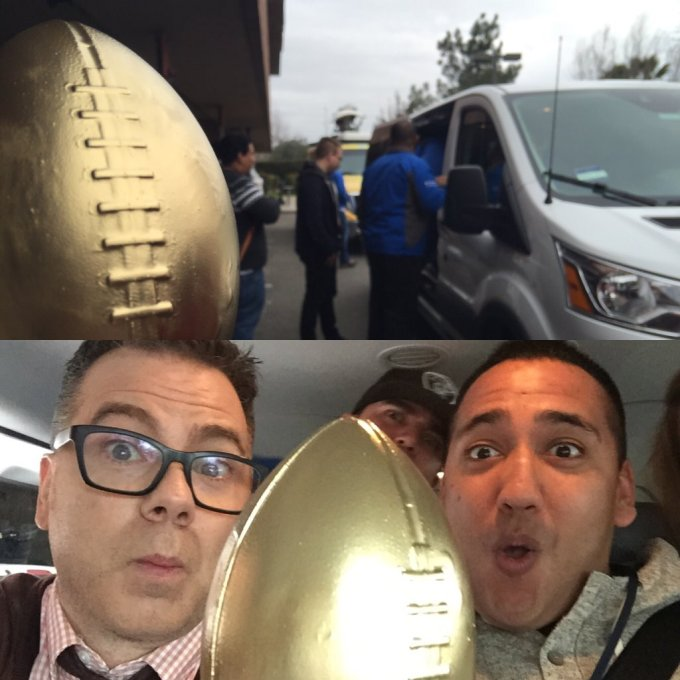 Good Day Super Bowl 50 Van 1