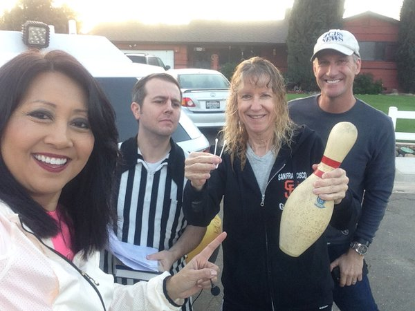 Tina Scavenger Hunt lottery Qtip and Bowling Pin