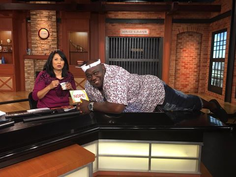 Tina with Faizon Love 1