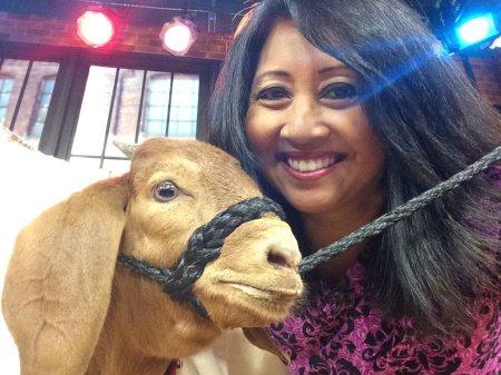 Tina with a Goat 1